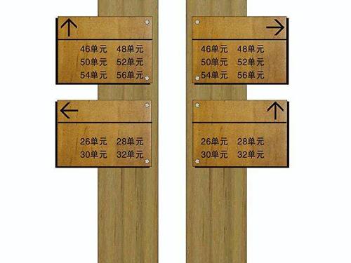 贵州防腐木指示牌单价