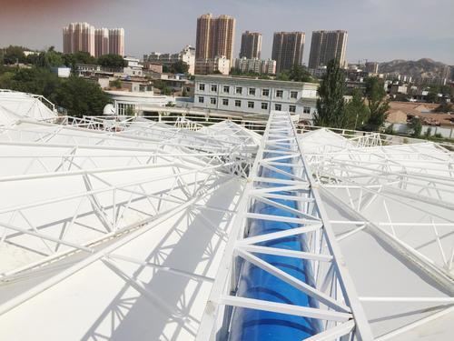 濰坊/濟南膜結構污水池滿足使用單位后期方便維護操作