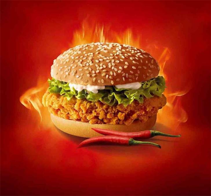 香辣鸡柳堡-小小饮吧炸鸡汉堡