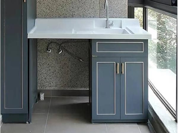 全铝整体洗衣柜