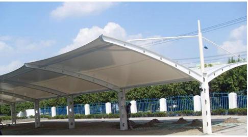 蘇州膜結構停車棚是怎么解決排水問題的