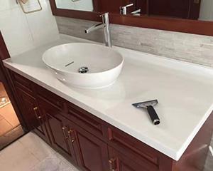 洗手台石材贴膜工程案例