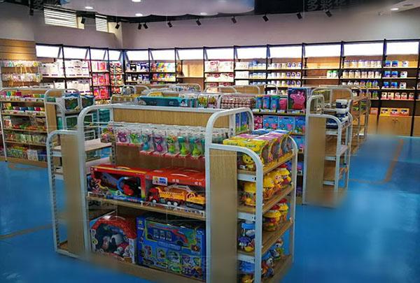 超市儿童玩具货架