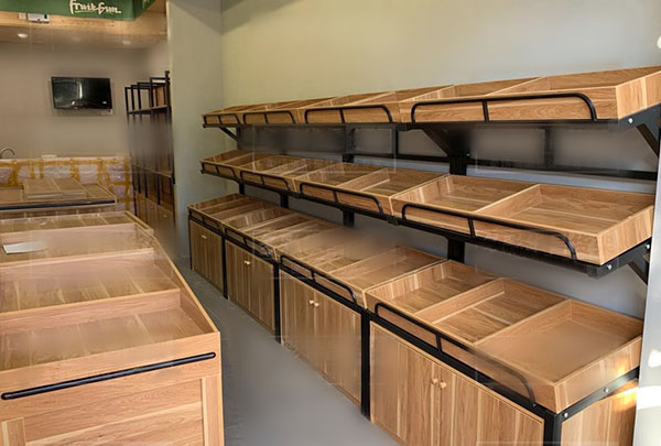 昆明水果店钢木货架