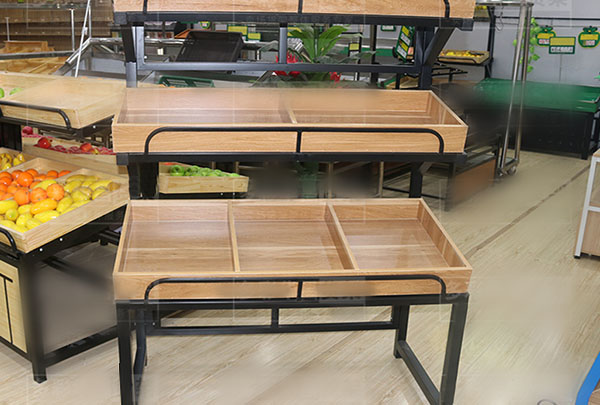 昆明水果商店钢木货架