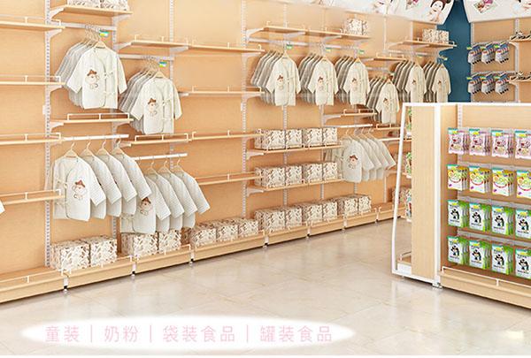 云南童装店钢木货架