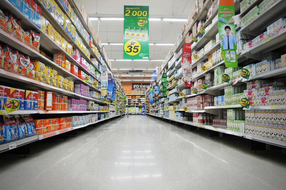 大型超市貨架運用