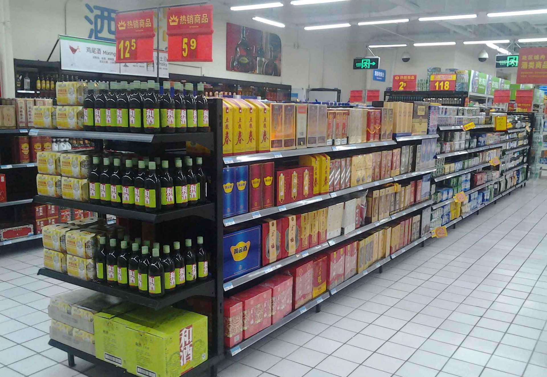 重型超市货架运用