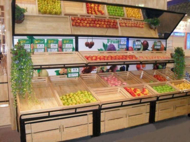 木制超市水果货架运用