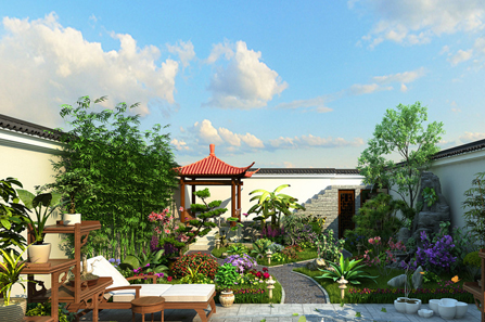 别墅庭院景观设计