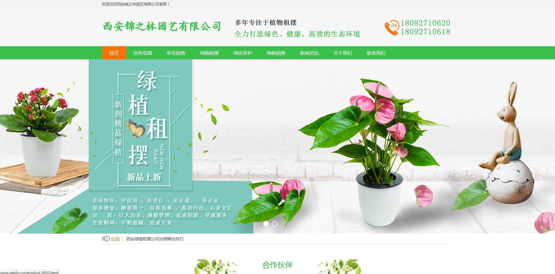 西安锦之林网站上线!