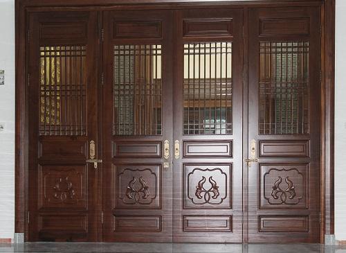 中式仿古原木门