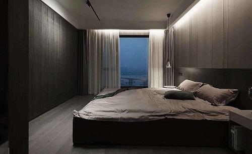 卧室现代风格护墙板