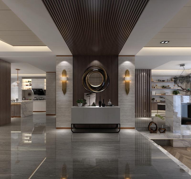 现代简约家居定制包括现代简约地板、现代简约橱柜衣柜、现代简约护墙板