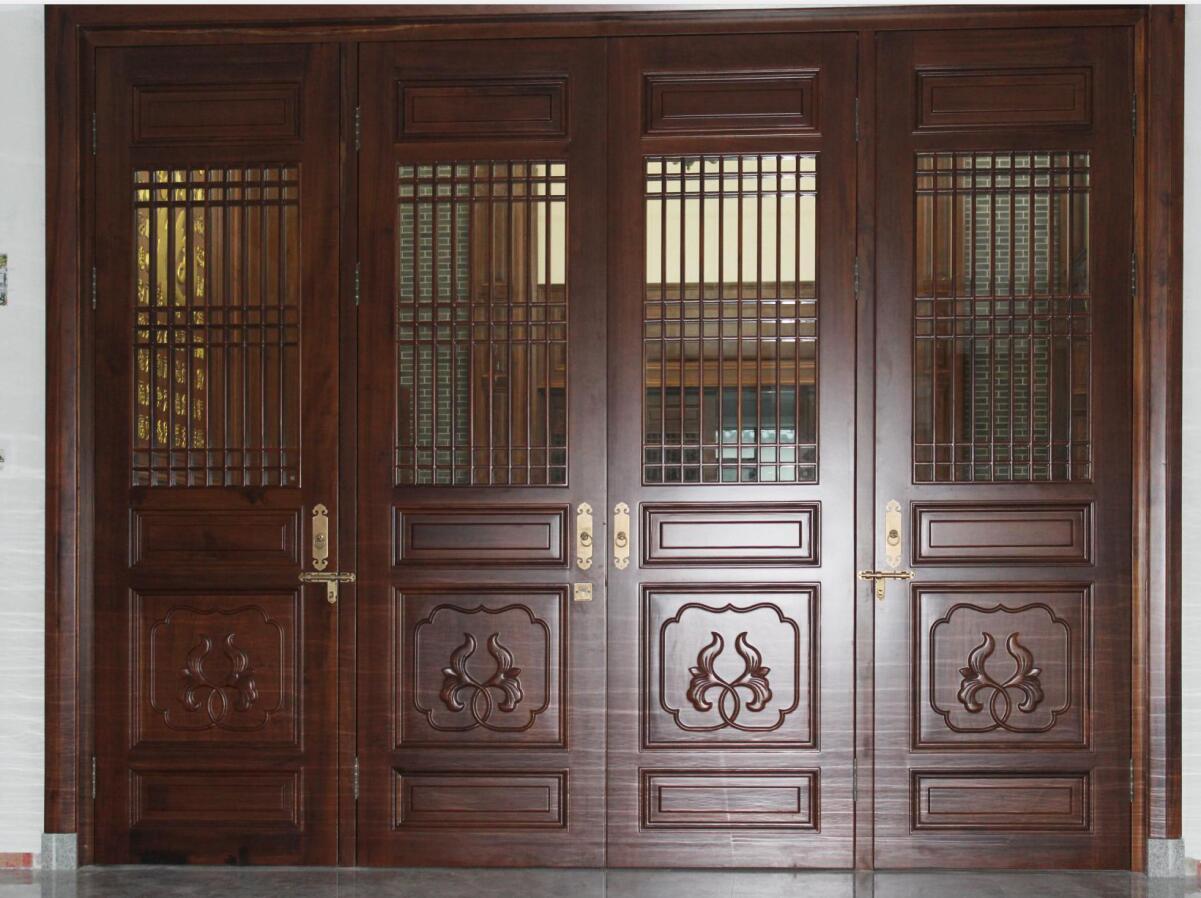 中式古典原木木门