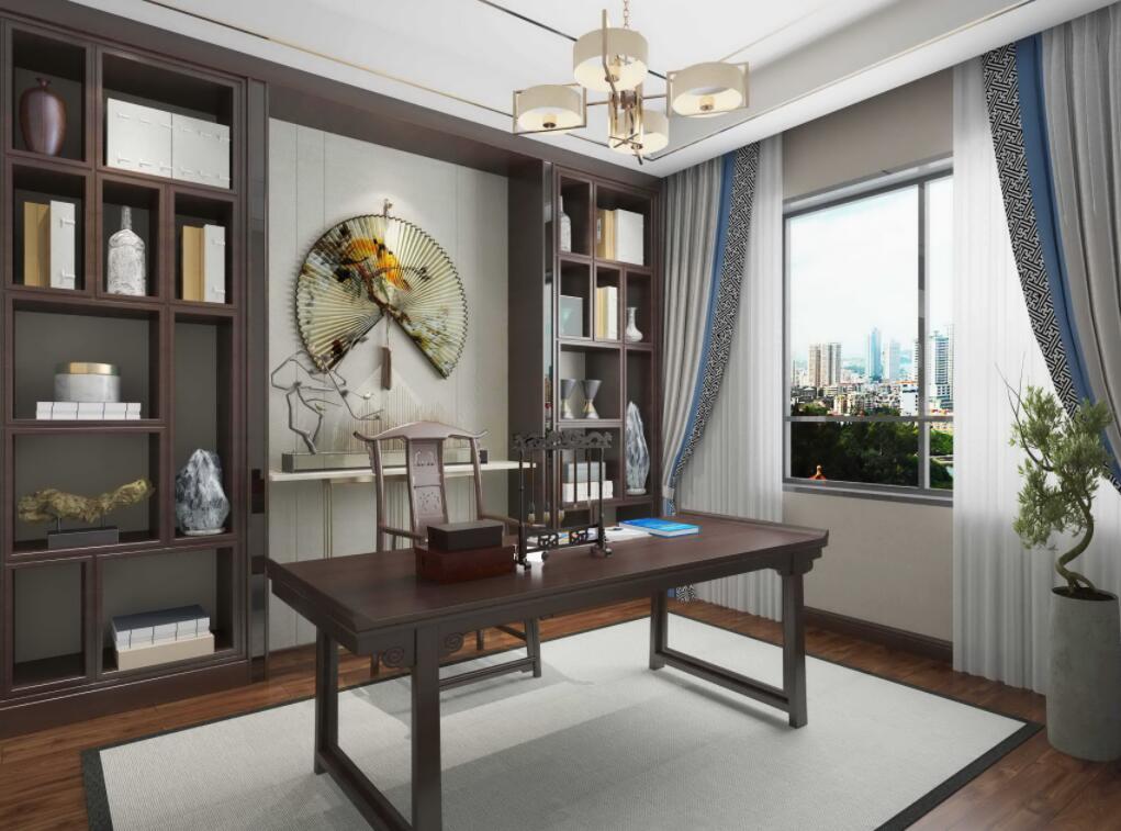 新中式整体书房