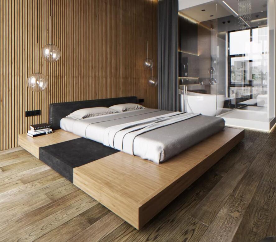 极简地台矮床
