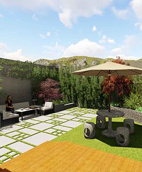 紫汀苑下沉式庭院景观设计