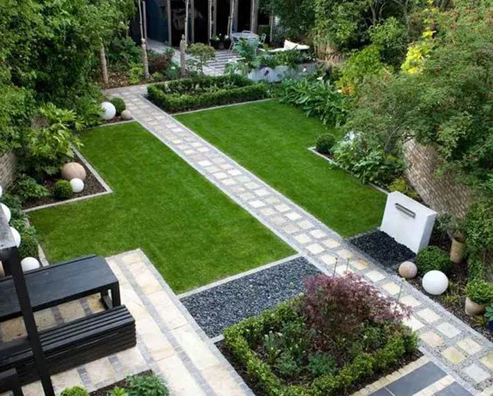 现代简约庭院景观
