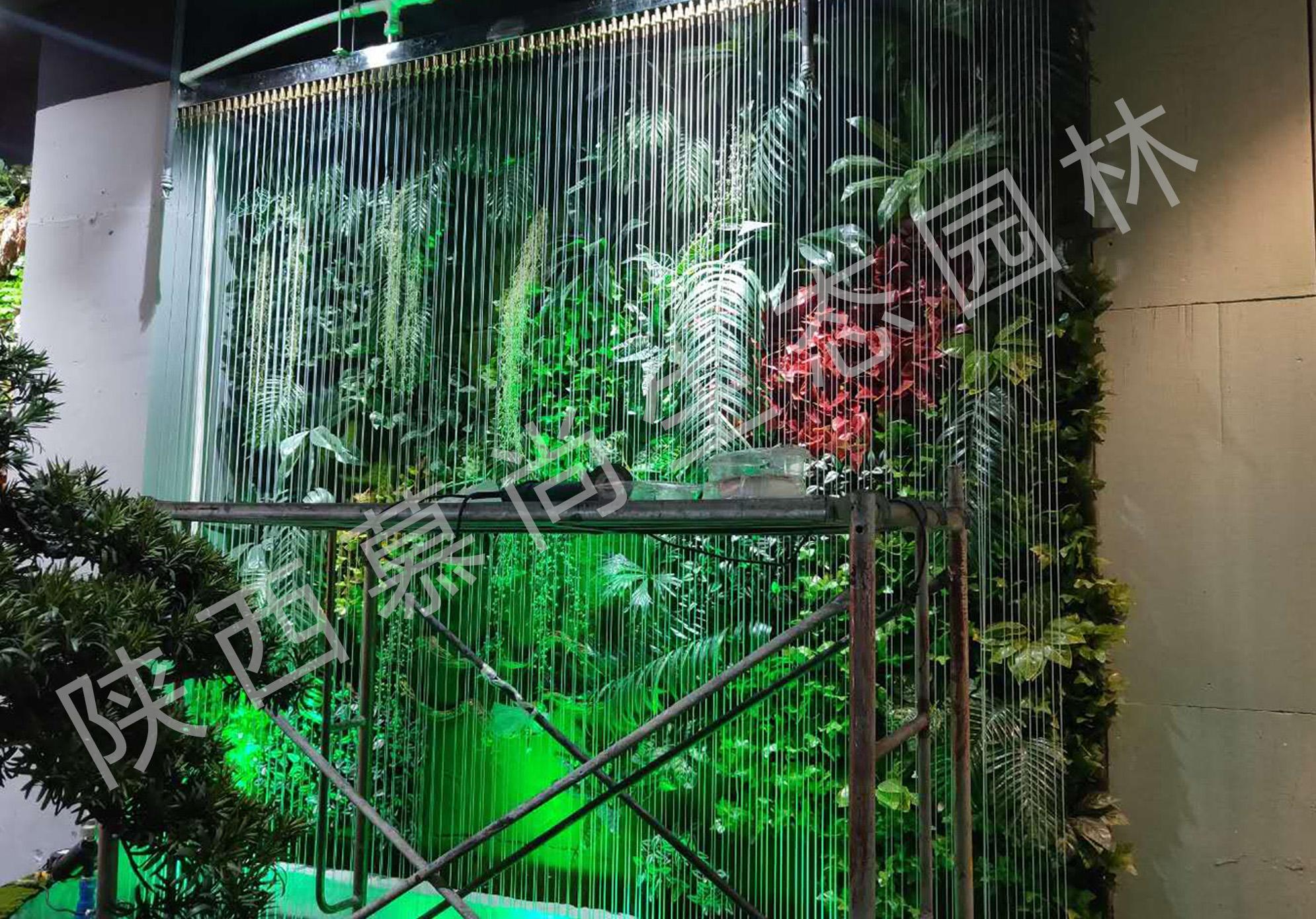 四季花藝室內拉線水幕