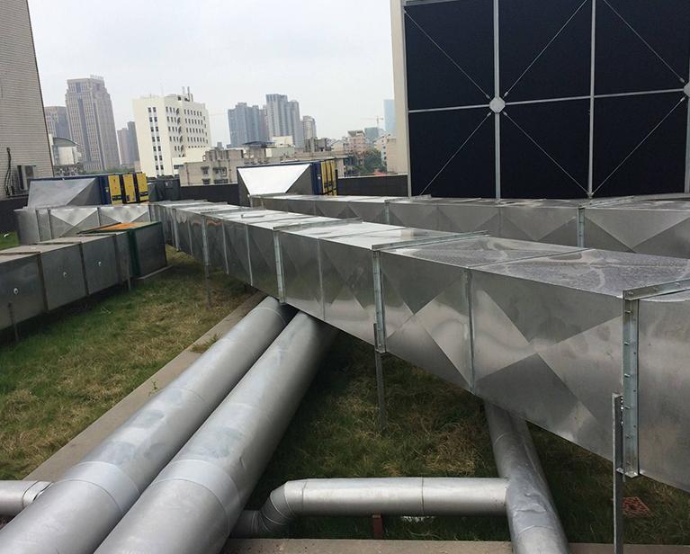 大厦矩形通风管道