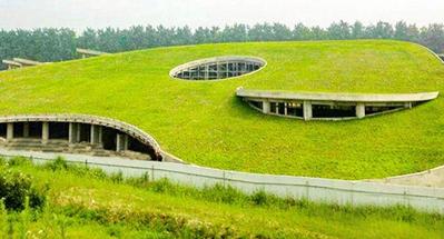 草坪式缓坡屋顶绿化