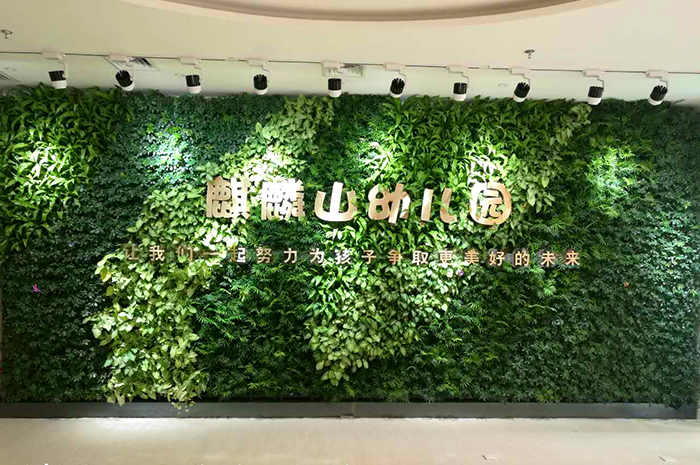 麒麟山幼儿园立体绿化墙