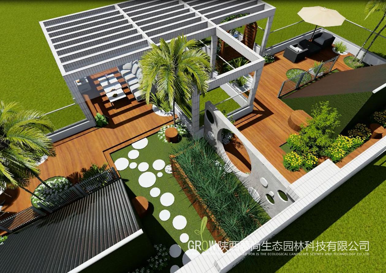 中华世纪城楼顶花园