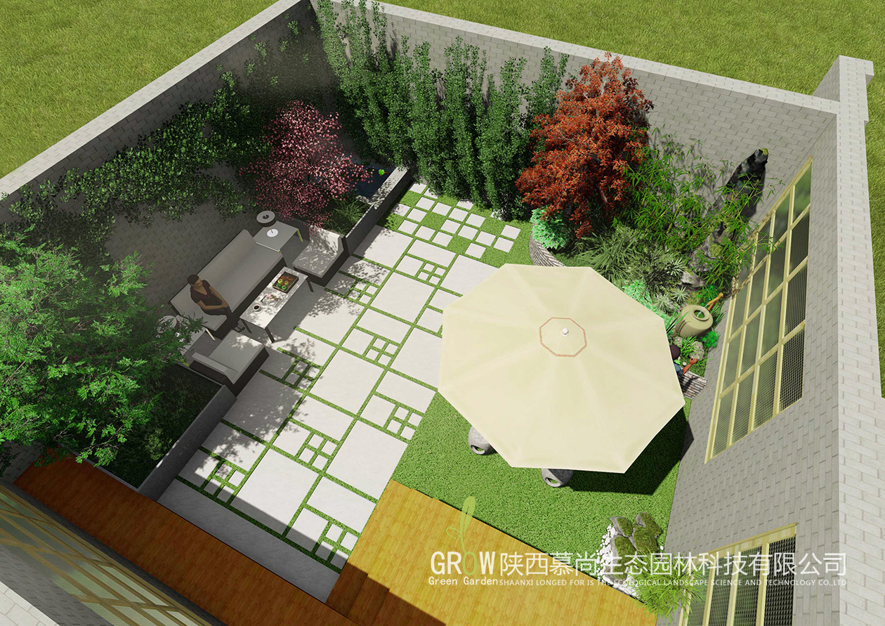 小庭院景观设计