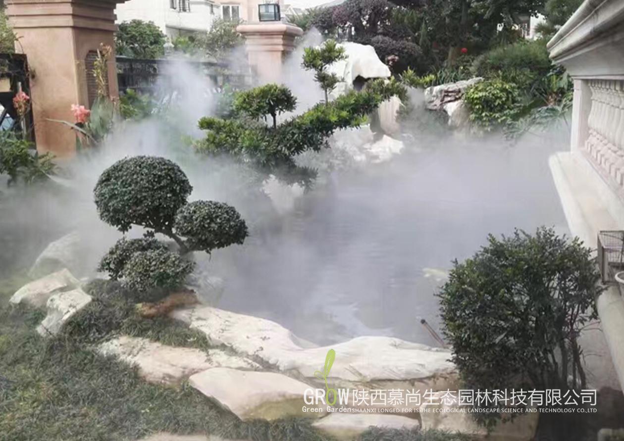 别墅庭院雾森景观