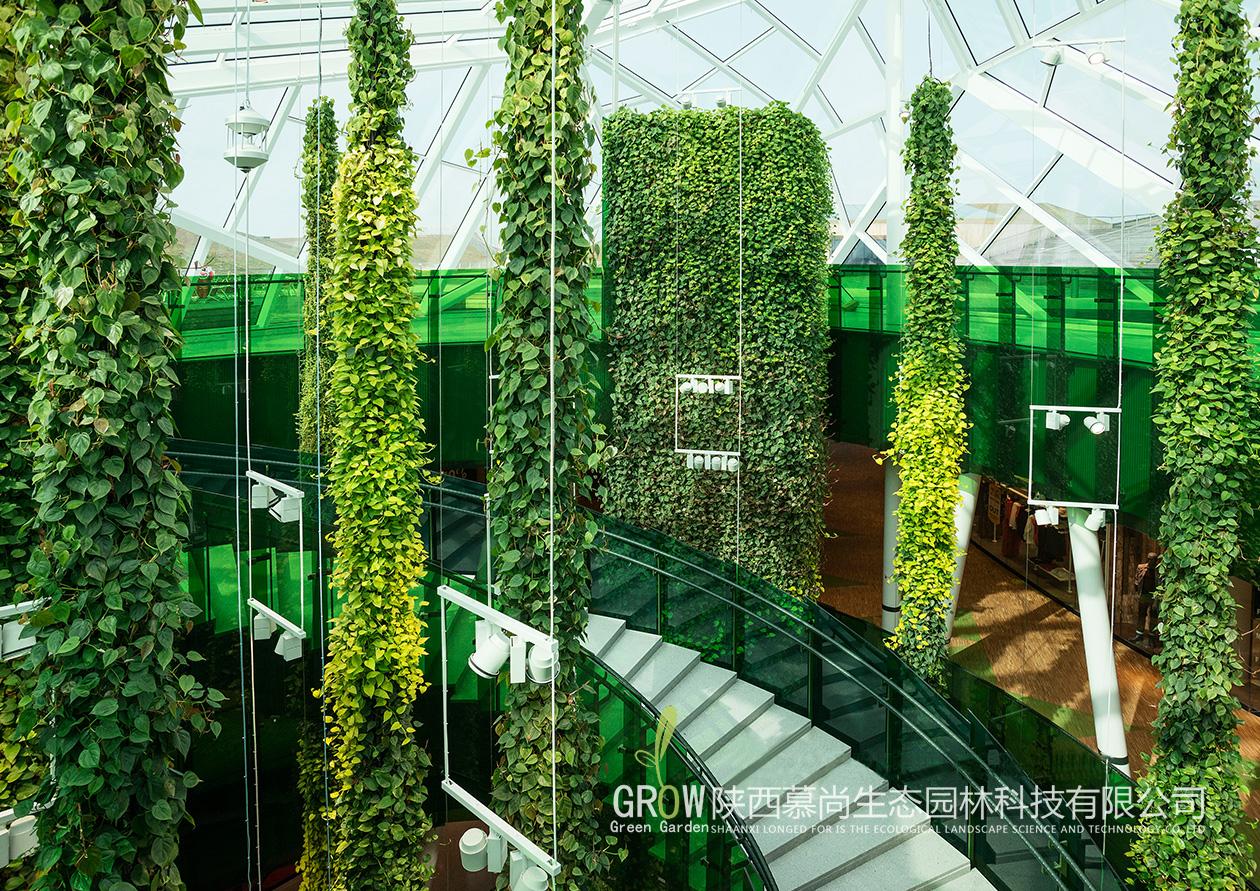 室内柱状植物墙案例