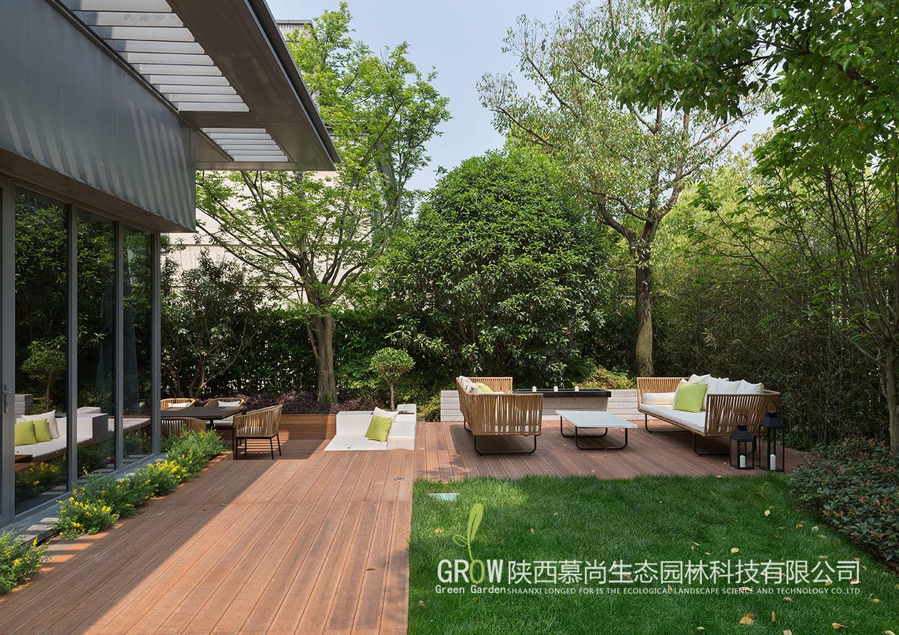 庭院防腐木铺装设计
