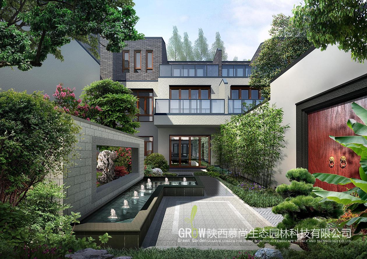 新中式庭院铺装
