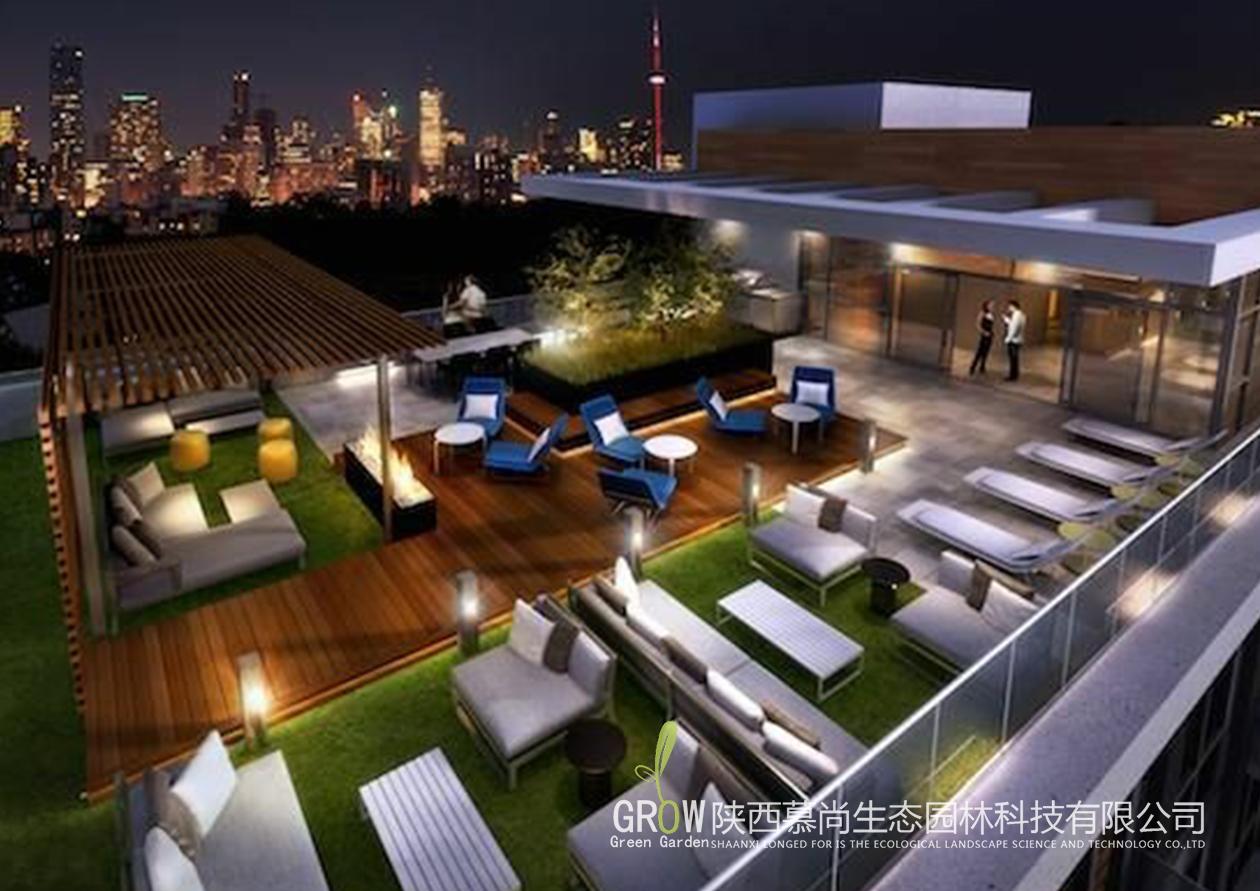 屋顶花园夜景效果
