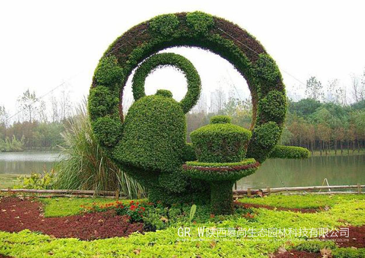 植物绿雕场景展示