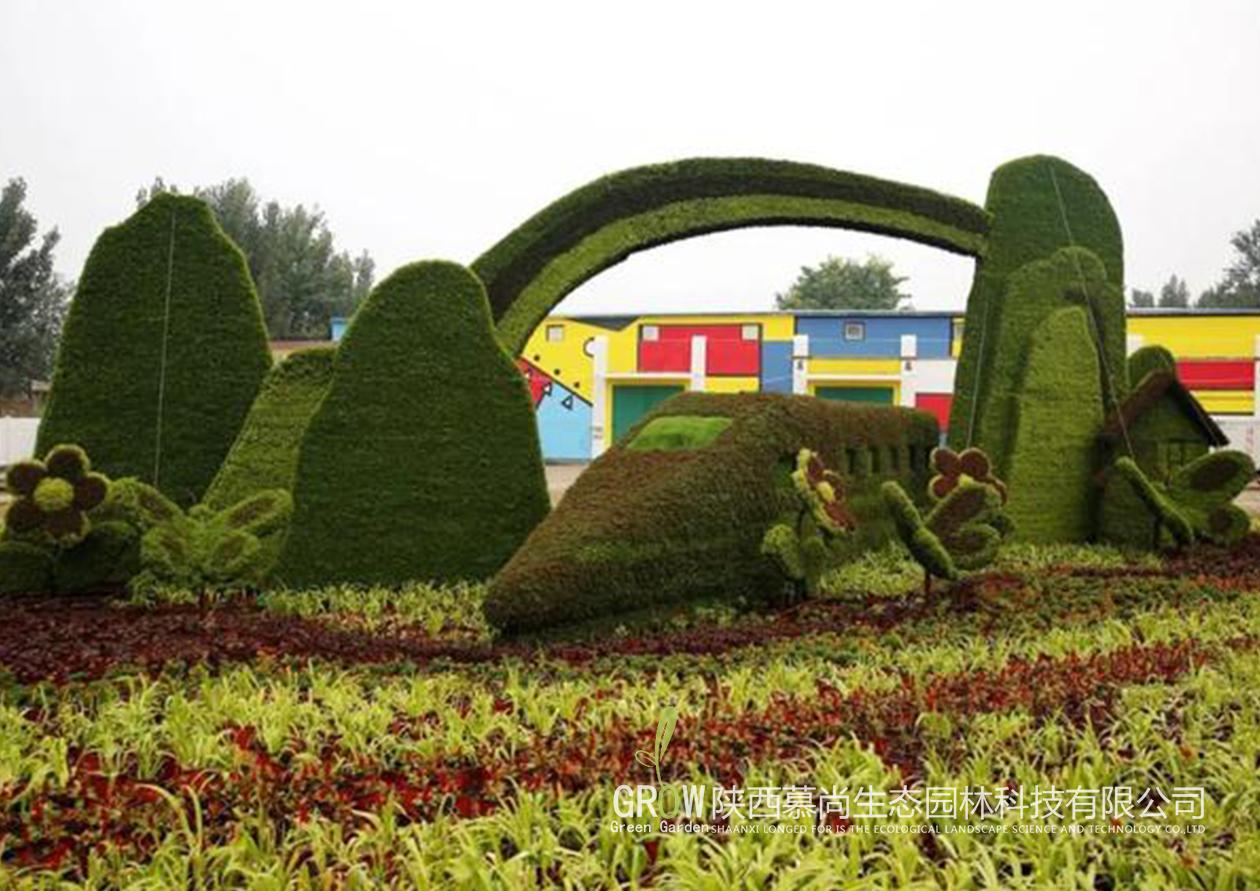 立体绿雕展示