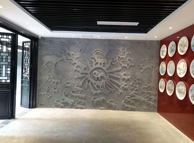 水泥浮雕施工