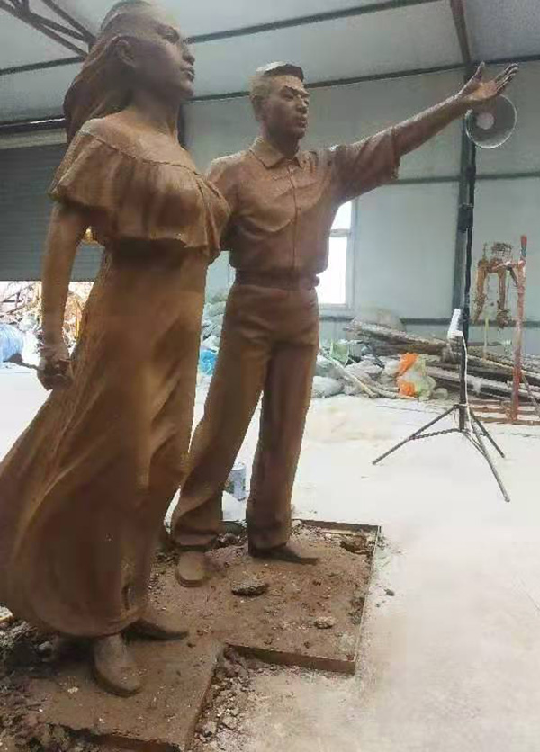 玻璃鋼仿銅雕塑