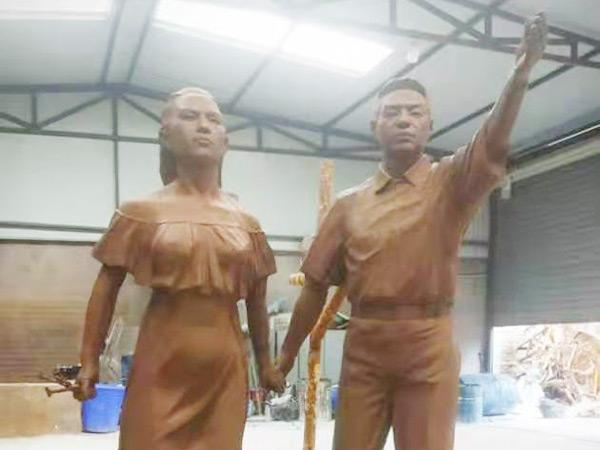 榆林车站玻璃钢仿铜雕塑制作