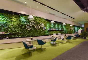 昆明路际华国际未来中心售楼部植物墙
