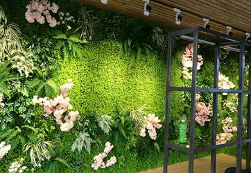 餐飲店里做植物墻的好處