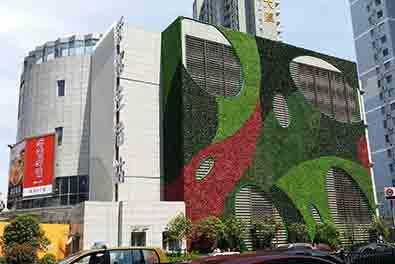 商业外立面仿真植物墙