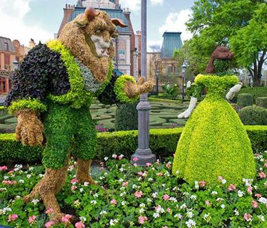 迪士尼绿雕