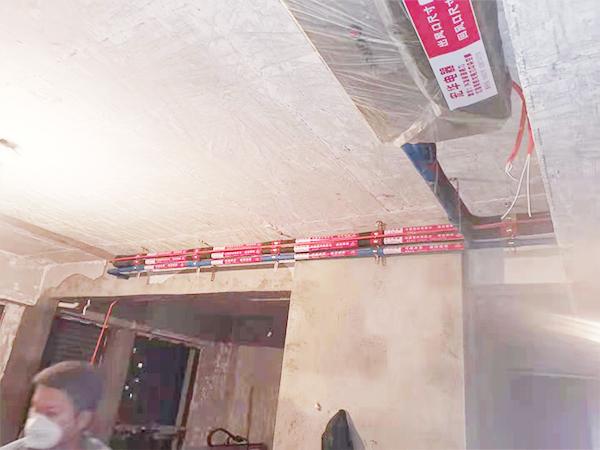 东原观天下一拖三中央空调安装案例