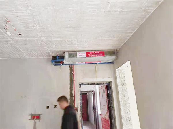 阳光里一拖三中央空调安装现场案例