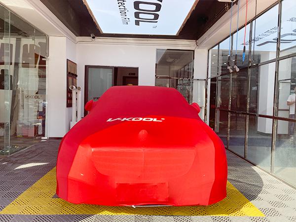 奔驰E300L 贴威固V10漆面保护膜交车