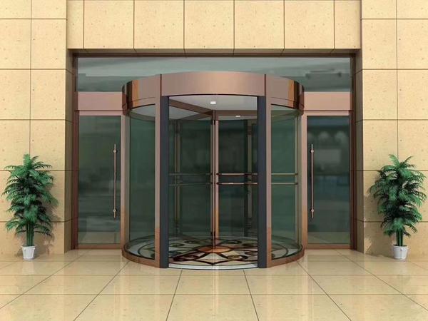 绵阳酒店玻璃感应门1