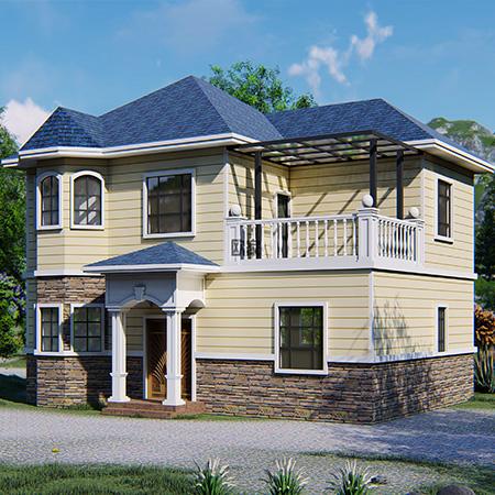 二层自建轻钢别墅