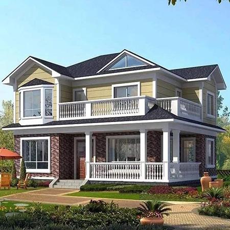 二层装配式轻钢别墅