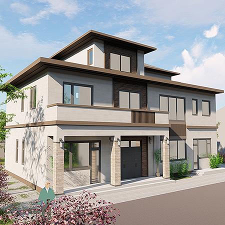 新中式钢结构别墅